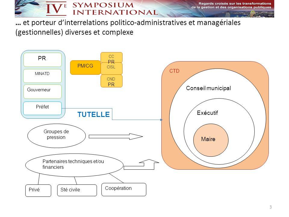 … et porteur d'interrelations politico-administratives et managériales (gestionnelles) diverses et complexe