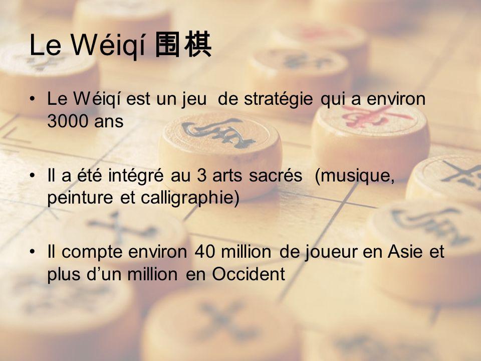 Le Wéiqí 围棋 Le Wéiqí est un jeu de stratégie qui a environ 3000 ans