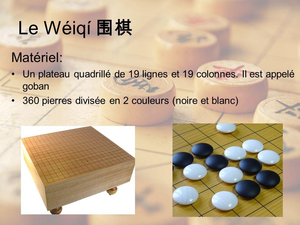 Le Wéiqí 围棋 Matériel: Un plateau quadrillé de 19 lignes et 19 colonnes.