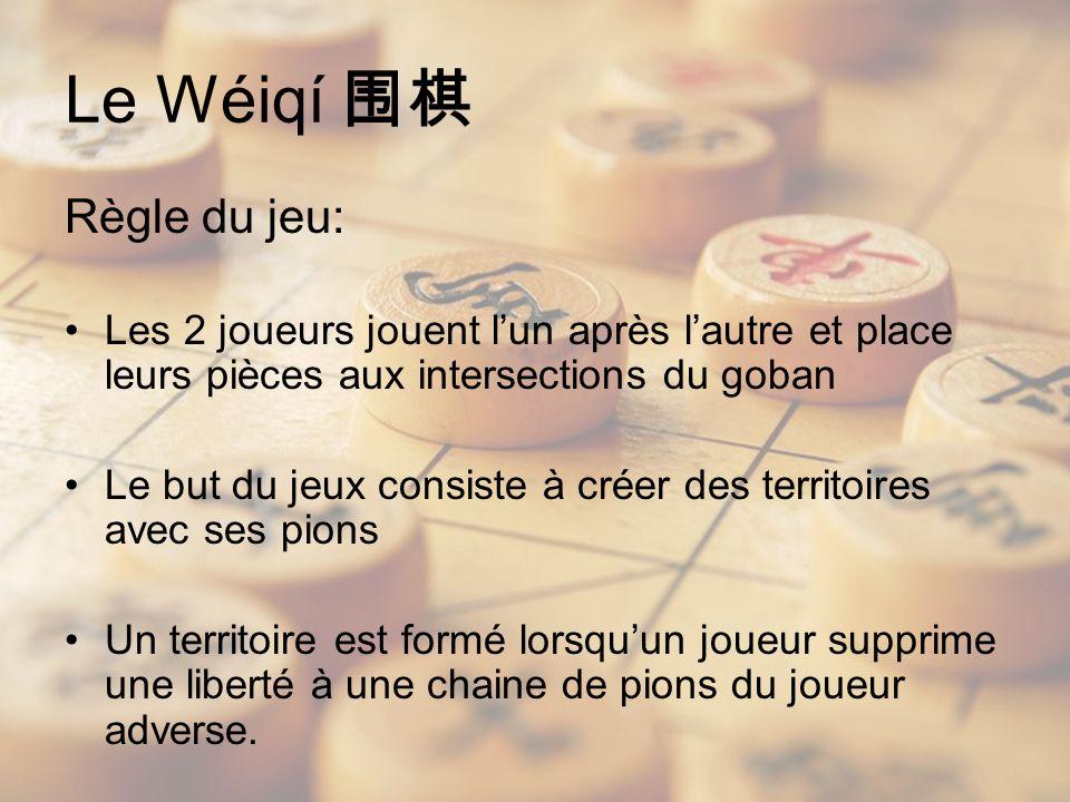 Le Wéiqí 围棋 Règle du jeu:
