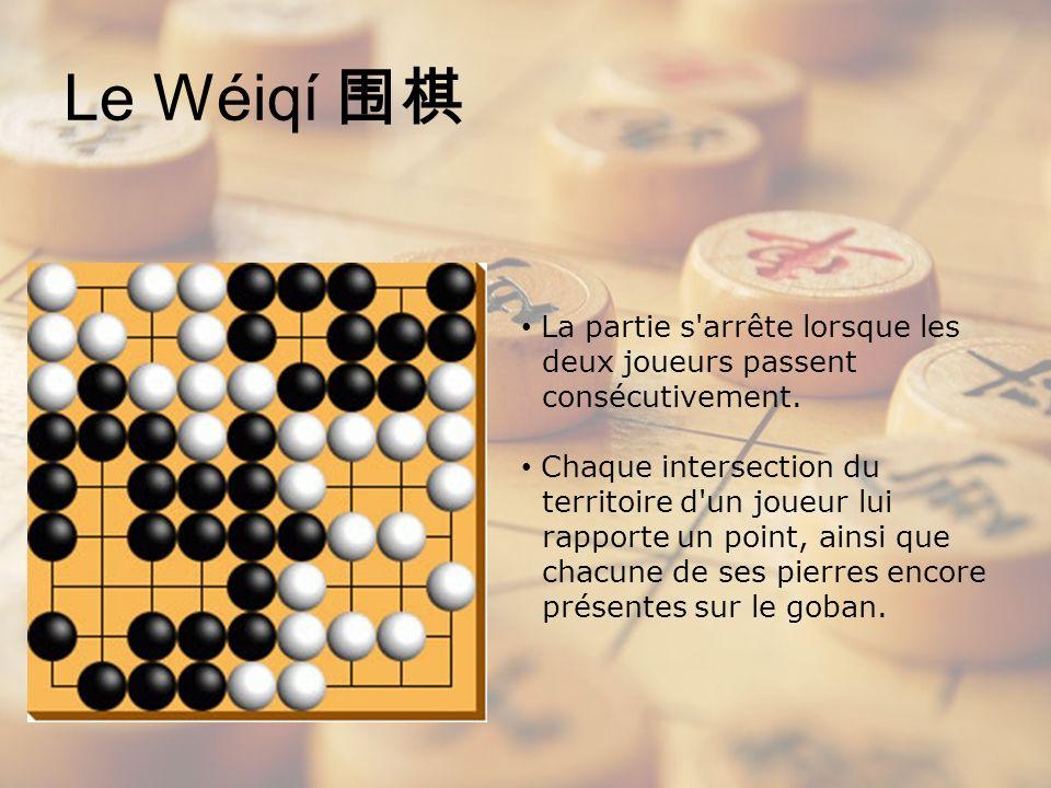 Le Wéiqí 围棋 La partie s arrête lorsque les deux joueurs passent