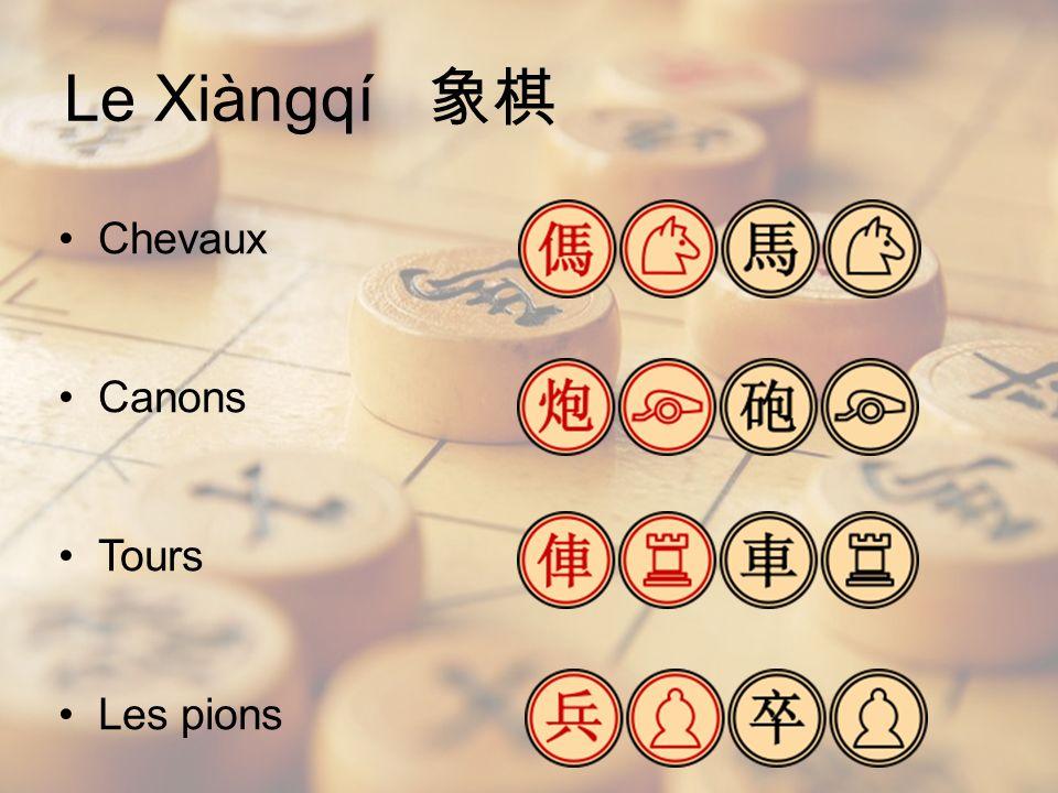 Le Xiàngqí 象棋 Chevaux Canons Tours Les pions