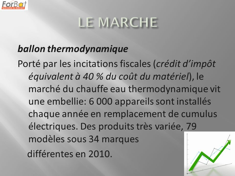 Ballon thermodynamique ppt video online t l charger - Credit d impot chauffe eau thermodynamique ...