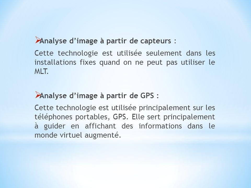 Analyse d'image à partir de capteurs :