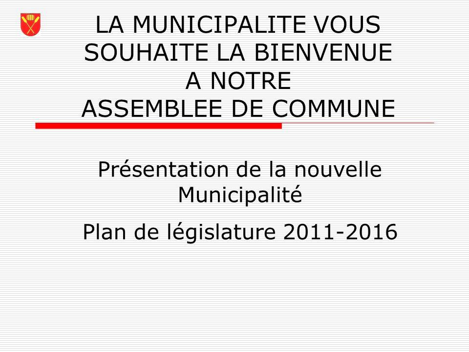 Présentation de la nouvelle Municipalité