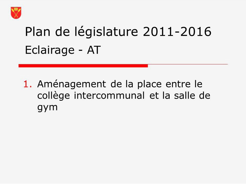 Plan de législature 2011-2016 Eclairage - AT