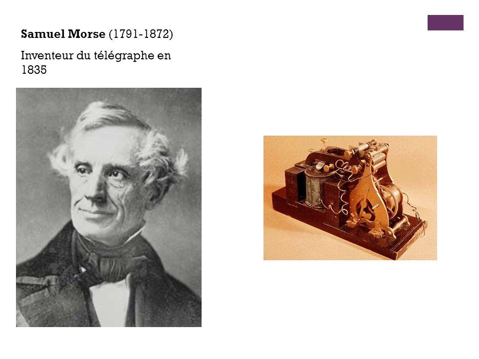 Samuel Morse (1791-1872) Inventeur du télégraphe en 1835