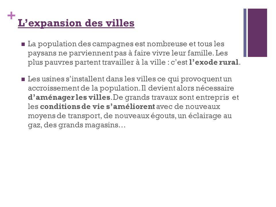 L'expansion des villes