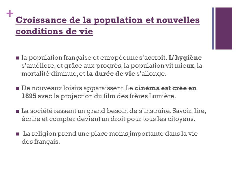 Croissance de la population et nouvelles conditions de vie
