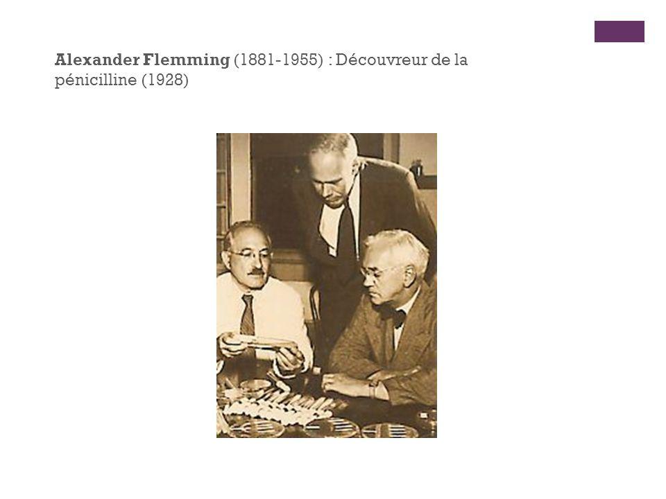 Alexander Flemming (1881-1955) : Découvreur de la pénicilline (1928)