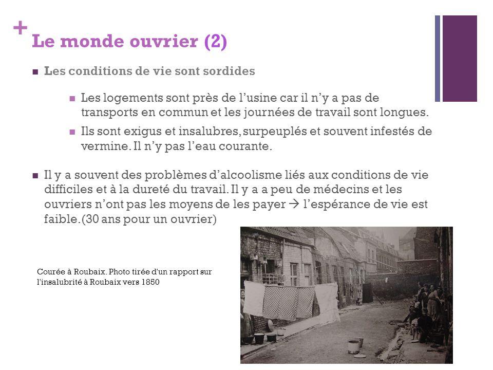 Le monde ouvrier (2) Les conditions de vie sont sordides