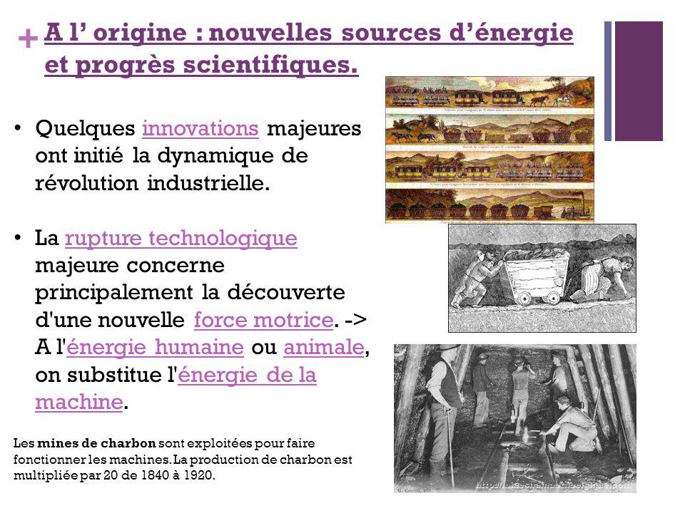 A l' origine : nouvelles sources d'énergie et progrès scientifiques.