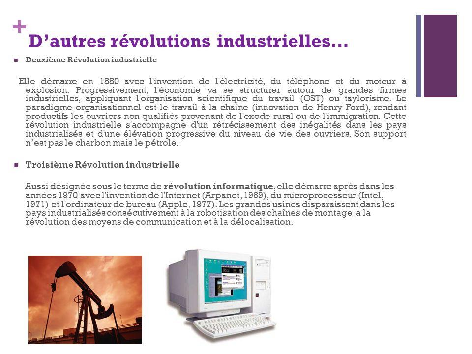 D'autres révolutions industrielles…