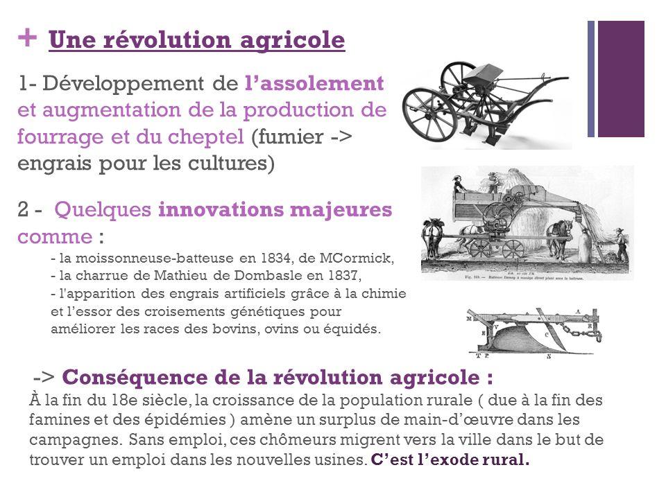 Une révolution agricole