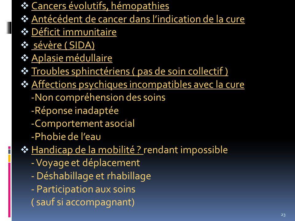 Cancers évolutifs, hémopathies