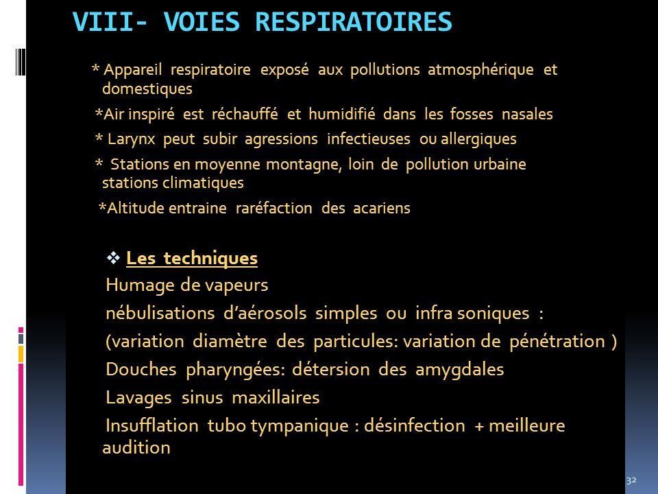 VIII- VOIES RESPIRATOIRES