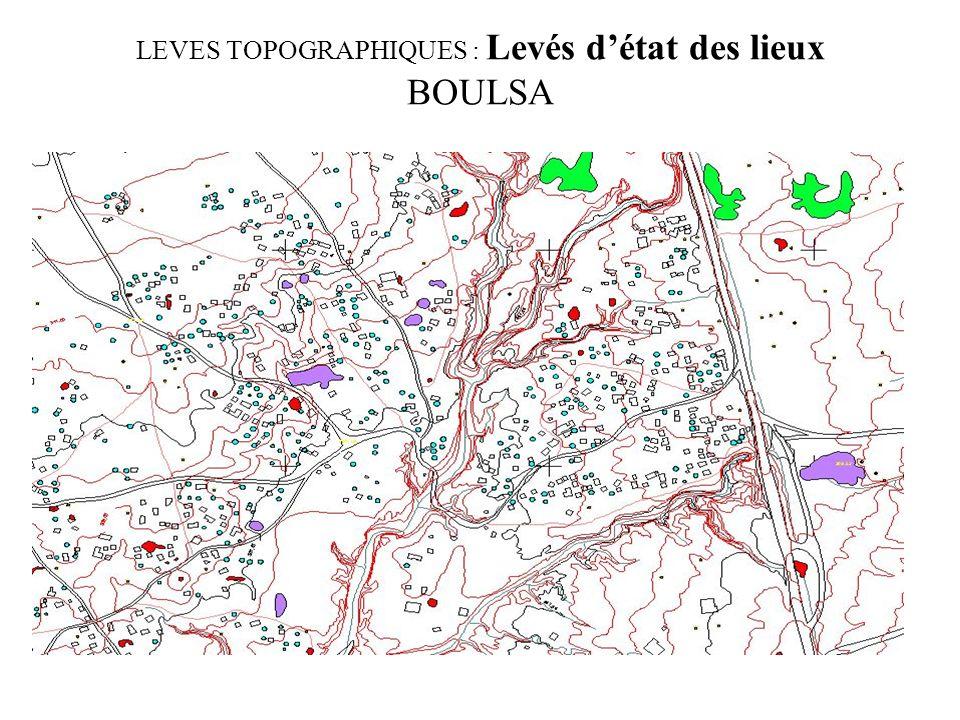 LEVES TOPOGRAPHIQUES : Levés d'état des lieux BOULSA