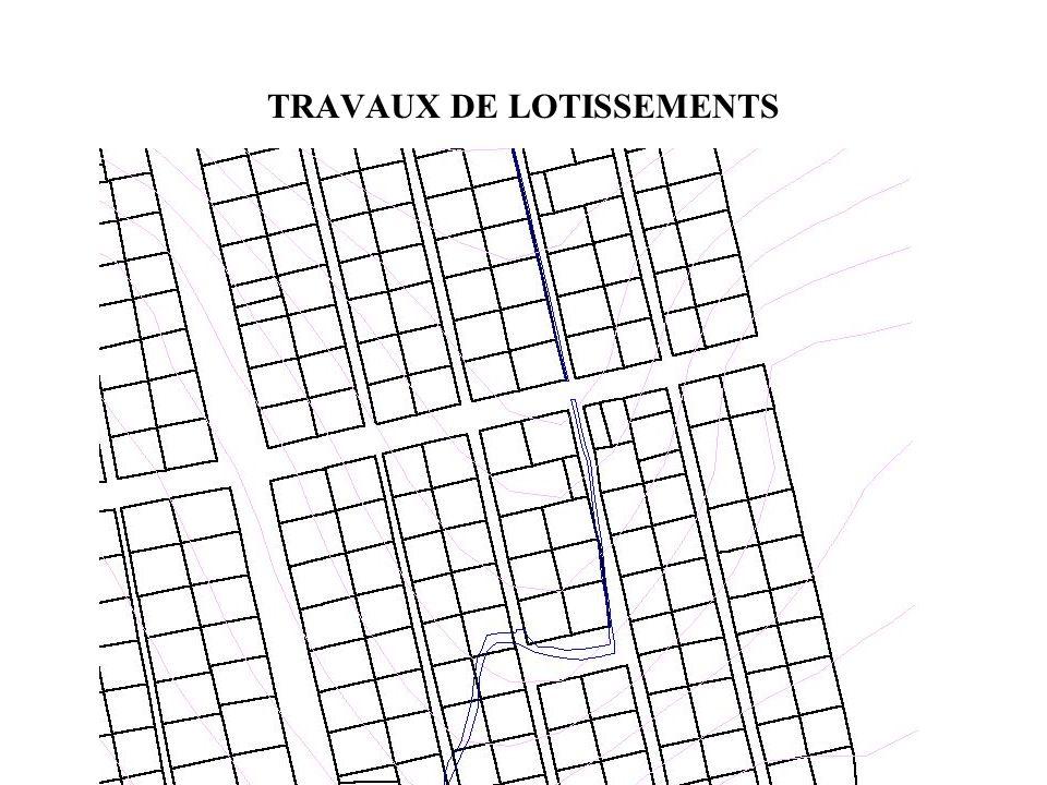 TRAVAUX DE LOTISSEMENTS