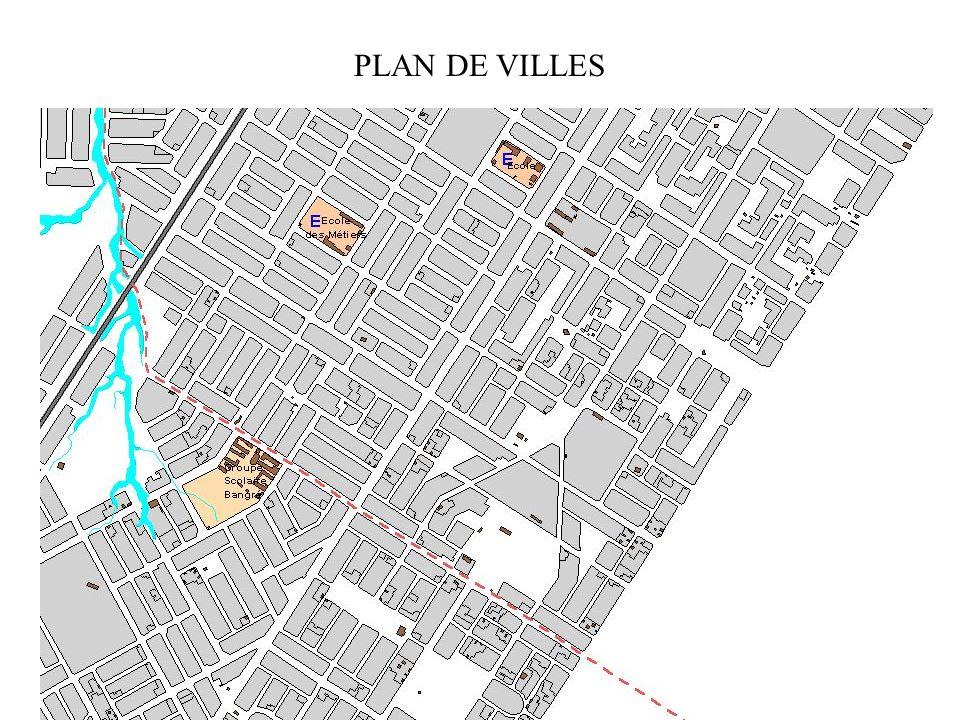 PLAN DE VILLES