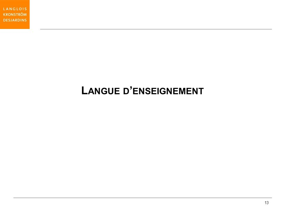 Langue d'enseignement