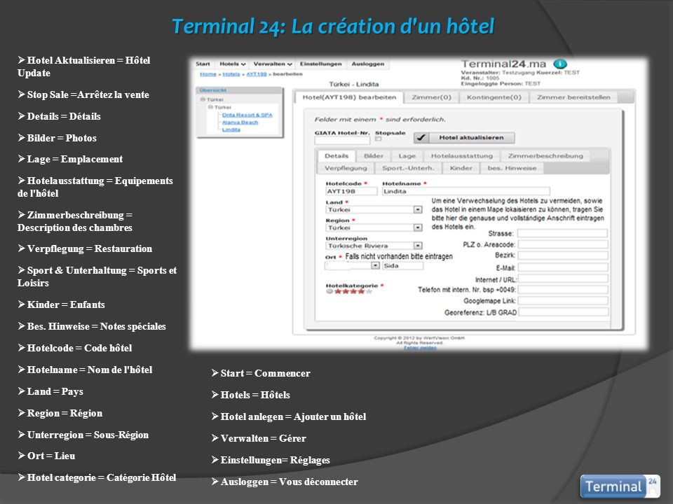 Terminal 24: La création d un hôtel
