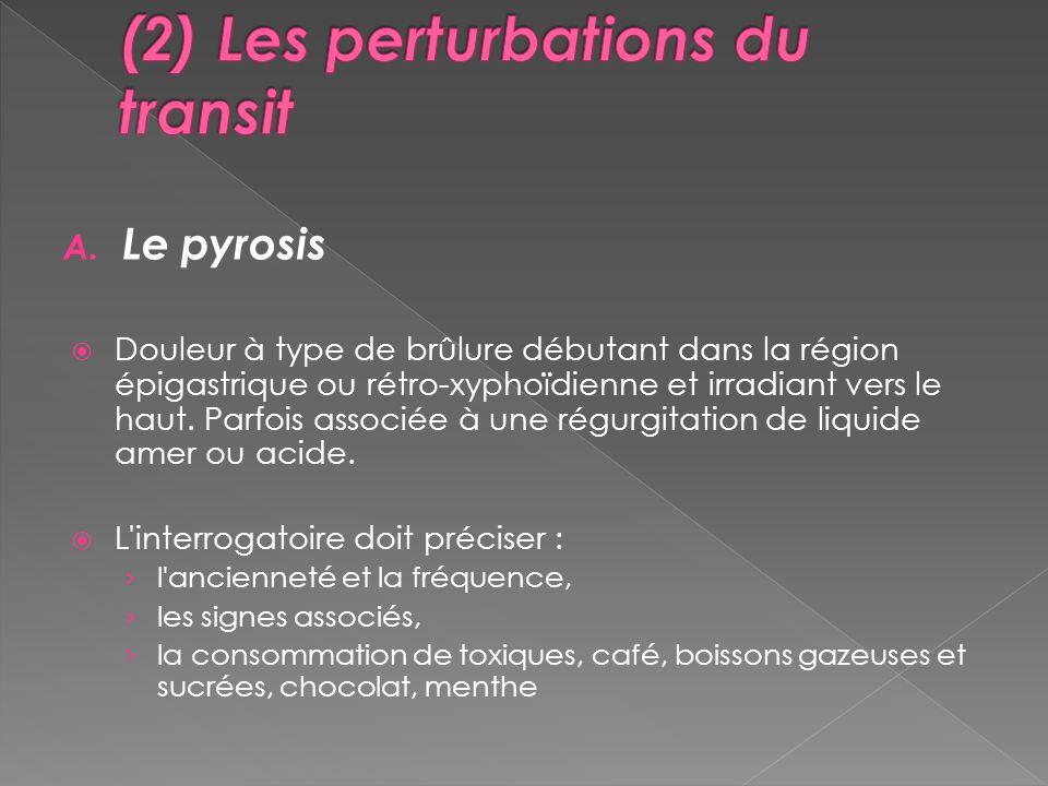 (2) Les perturbations du transit