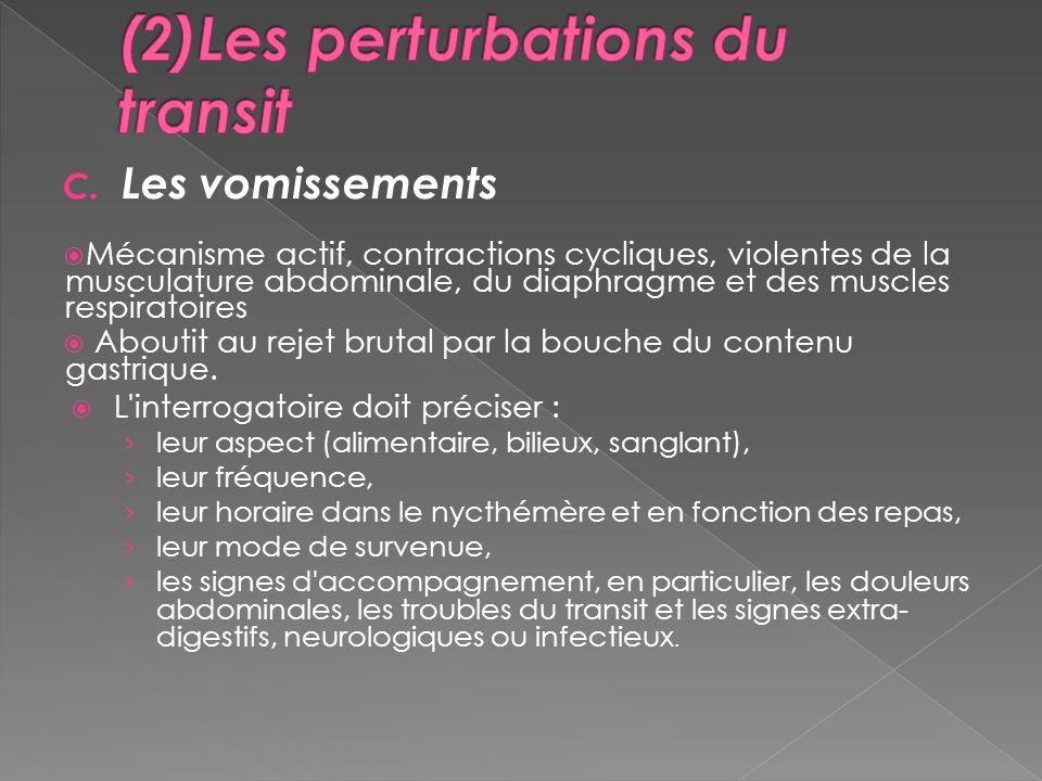 (2)Les perturbations du transit