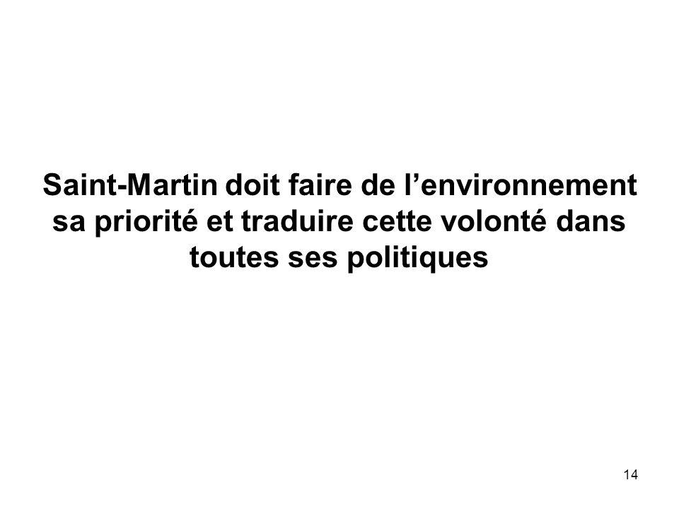 Saint-Martin doit faire de l'environnement sa priorité et traduire cette volonté dans toutes ses politiques