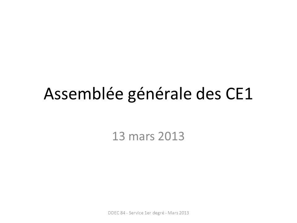 Assemblée générale des CE1
