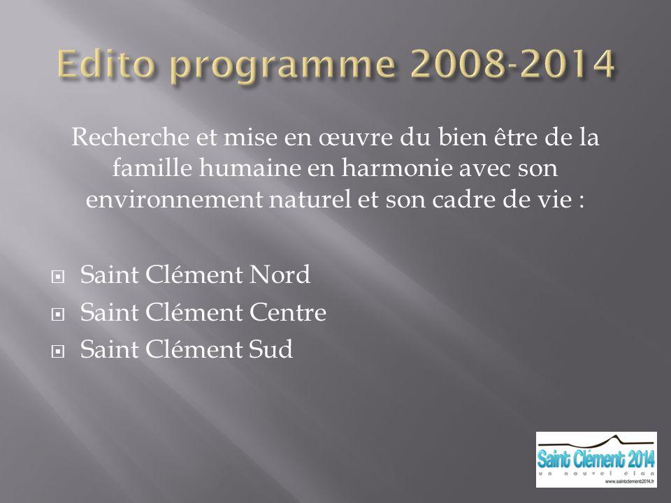 Edito programme 2008-2014