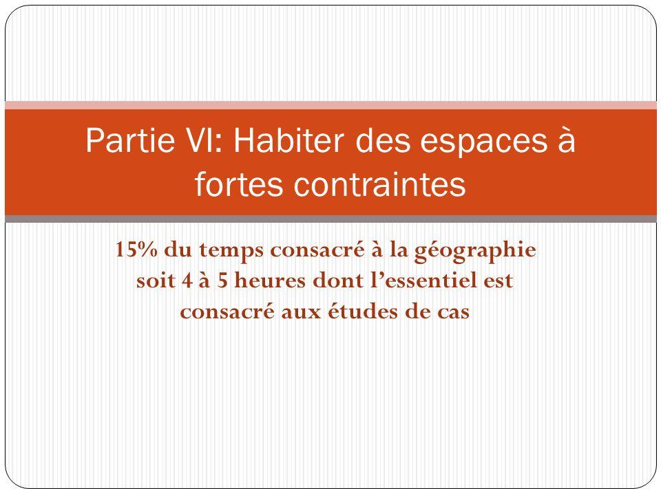 Partie VI: Habiter des espaces à fortes contraintes