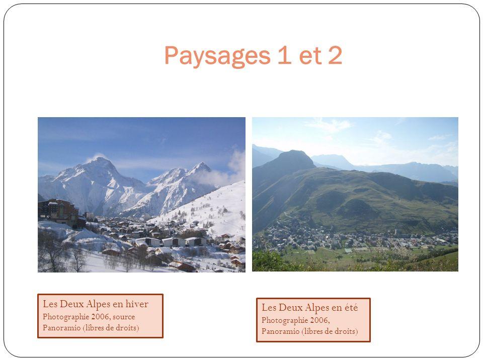 Paysages 1 et 2 Les Deux Alpes en hiver