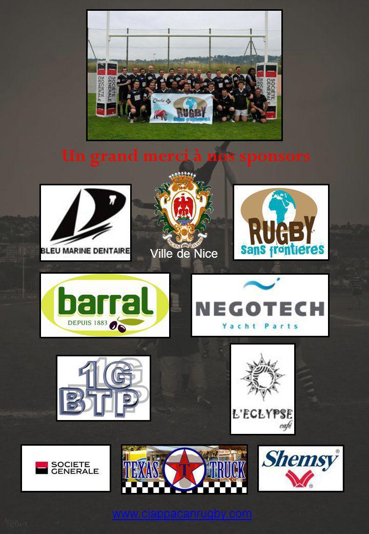 Un grand merci à nos sponsors