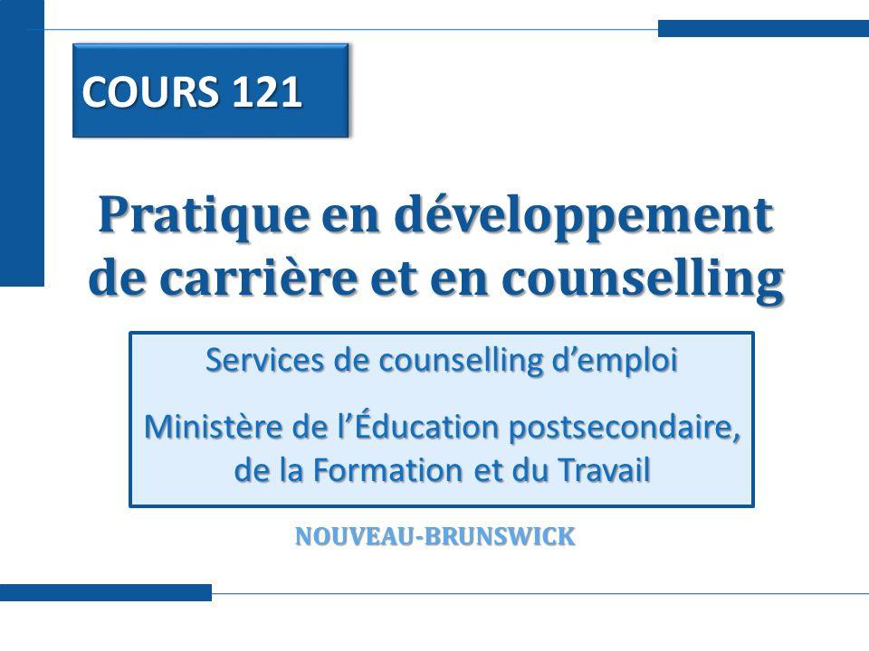 Pratique en développement de carrière et en counselling