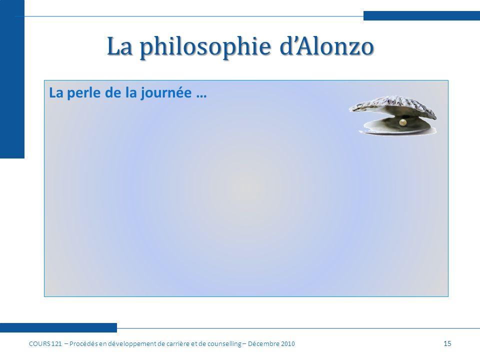 La philosophie d'Alonzo