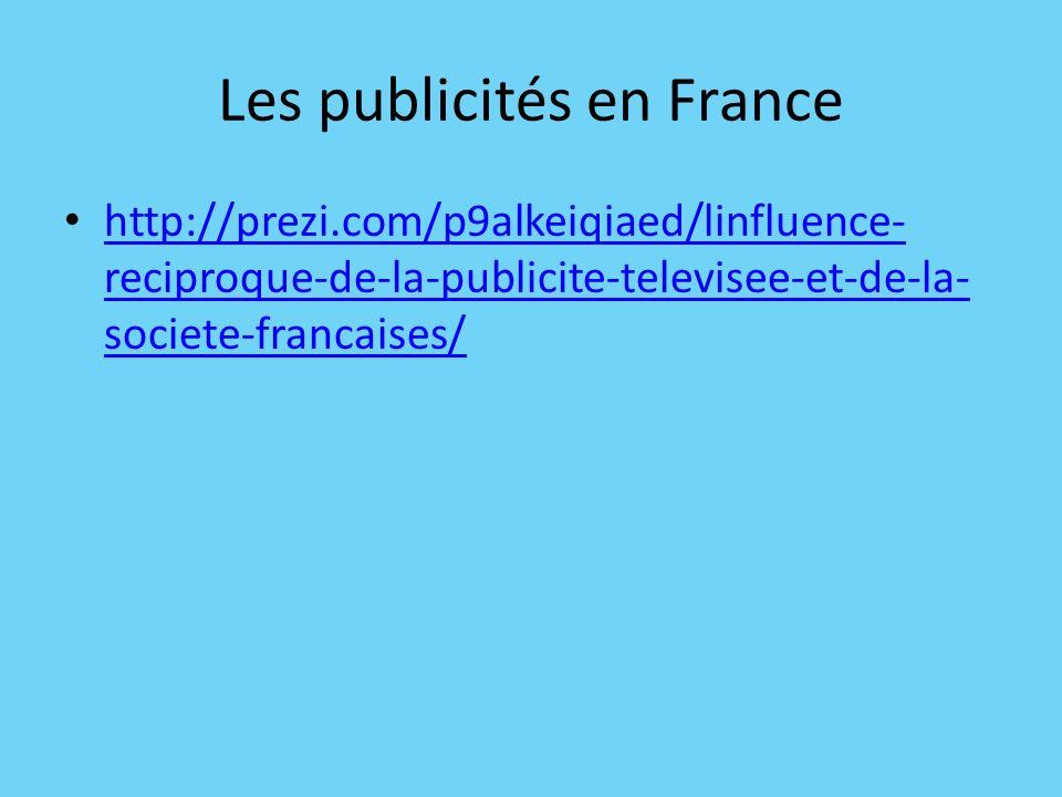 Les publicités en France