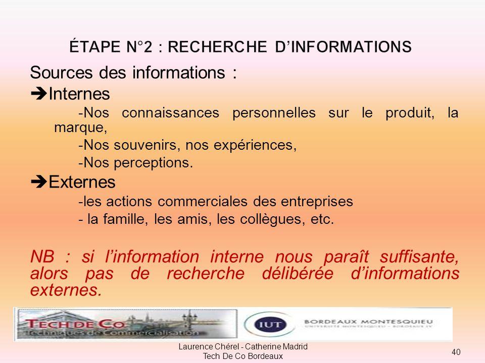 Étape n°2 : recherche d'informations