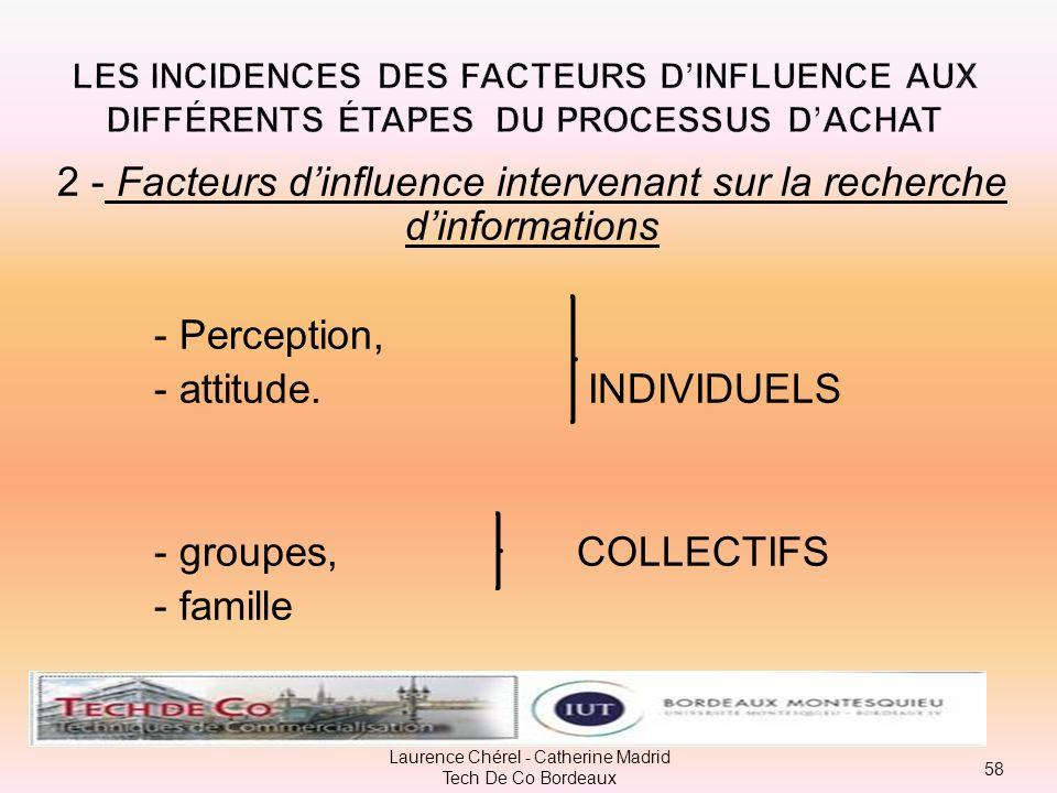 2 - Facteurs d'influence intervenant sur la recherche d'informations