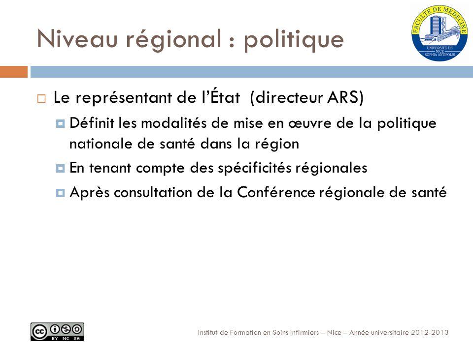 Niveau régional : politique