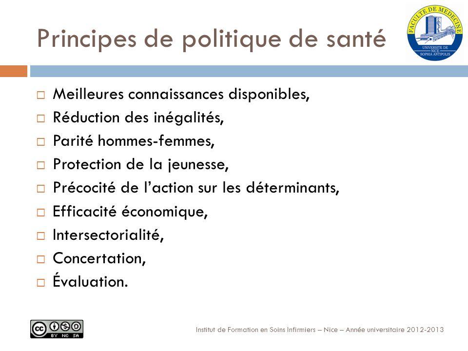 Principes de politique de santé