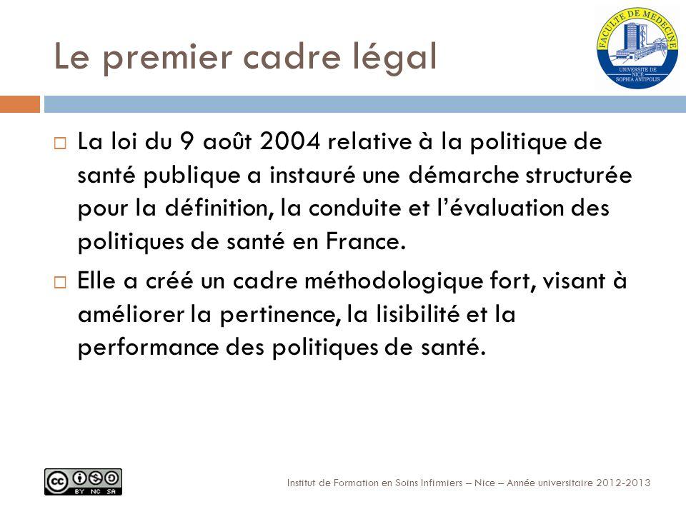 Le premier cadre légal