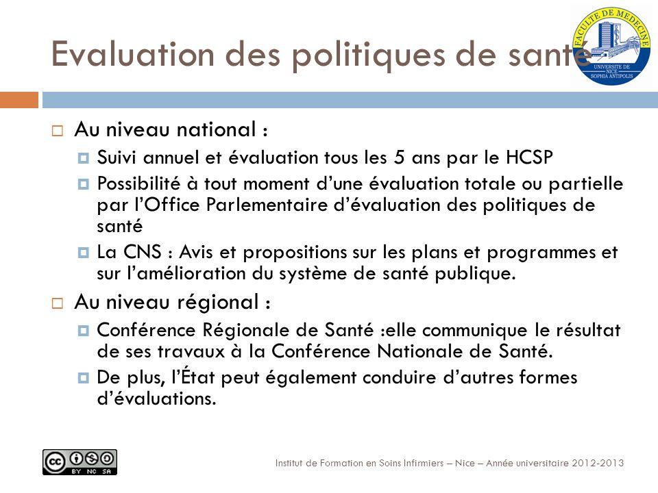 Evaluation des politiques de santé