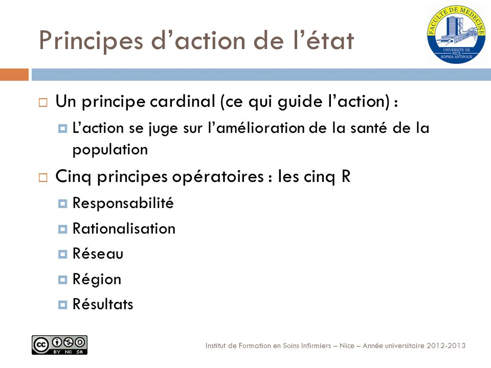 Principes d'action de l'état