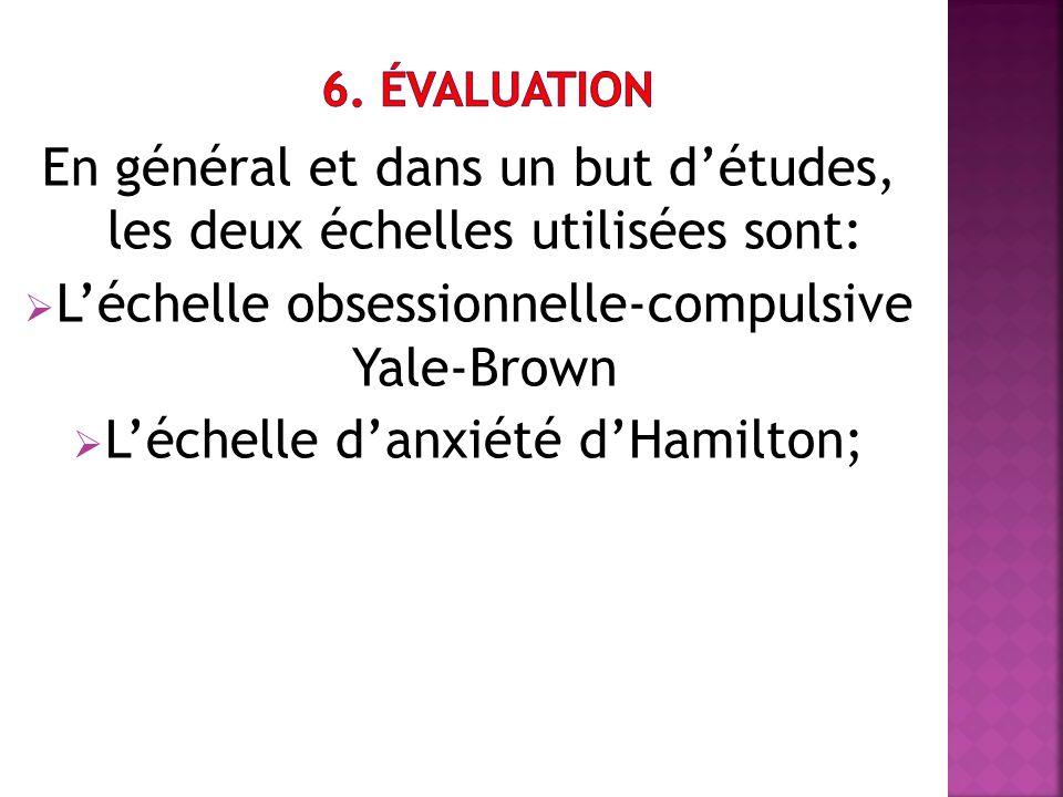 En général et dans un but d'études, les deux échelles utilisées sont: