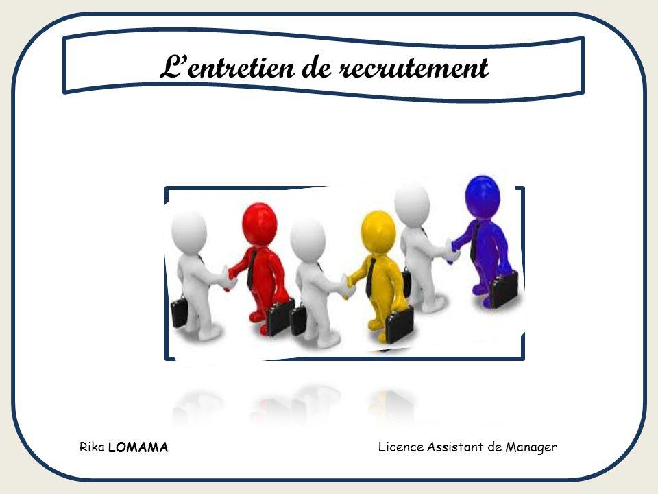 L entretien de recrutement ppt t l charger - Entretien avec cabinet de recrutement ...