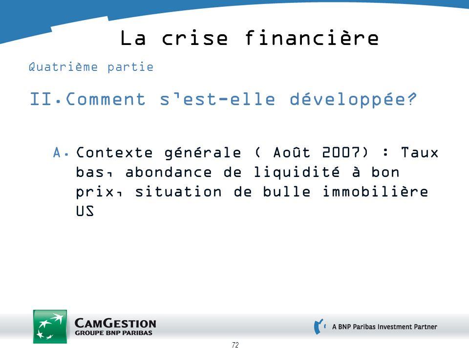 La crise financière Comment s'est-elle développée