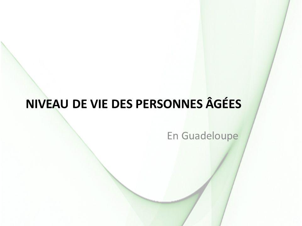 Niveau de vie des personnes âgées