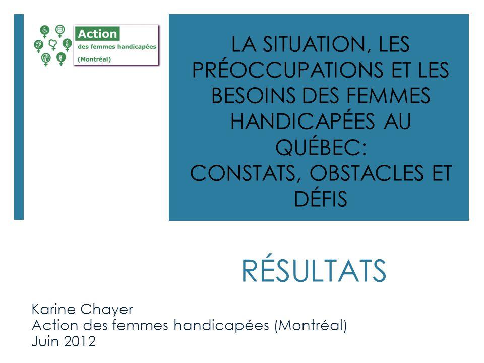 Karine Chayer Action des femmes handicapées (Montréal) Juin 2012