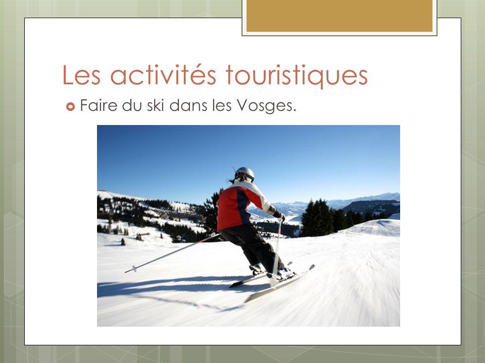 Les activités touristiques