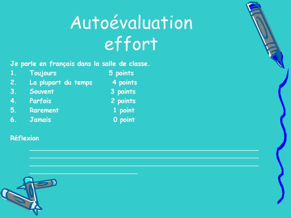 Autoévaluation effort